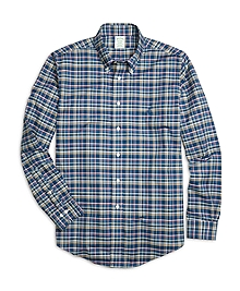 Non-Iron Milano Fit Multiplaid Sport Shirt