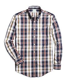 Non-Iron Milano Fit Large Plaid Sport Shirt