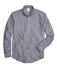 Non-Iron Milano Fit Ground Stripe Sport Shirt