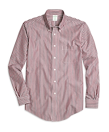 Non-Iron Milano Fit Ground Stripe Sport Shirt