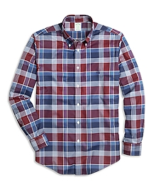 Non-Iron Milano Fit Graphic Plaid Sport Shirt