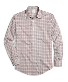 Non-Iron Milano Fit Glen Plaid Sport Shirt