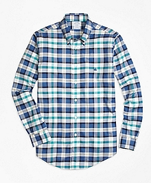 Non-Iron Regent Fit Bold Plaid Sport Shirt