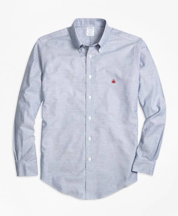 Non-Iron Regent Fit Oxford Sport Shirt Blue