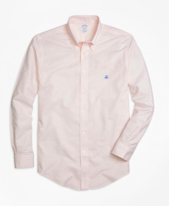 Non-Iron Regent Fit Oxford Sport Shirt Pink