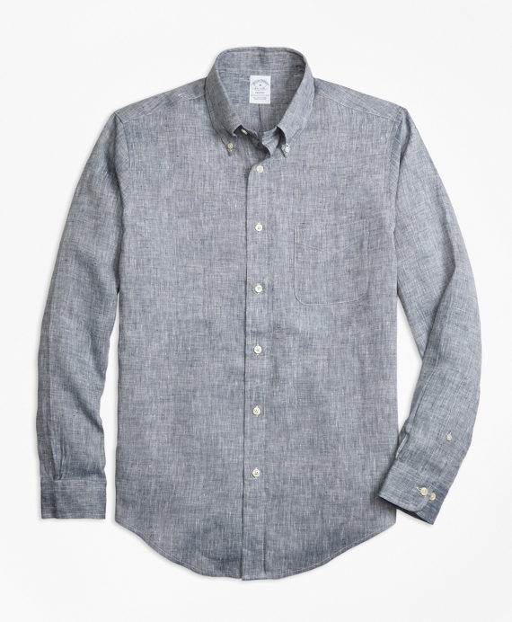 Regent Fit Irish Linen Sport Shirt Grey