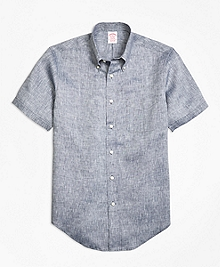 Madison Fit Irish Linen Short-Sleeve Sport Shirt