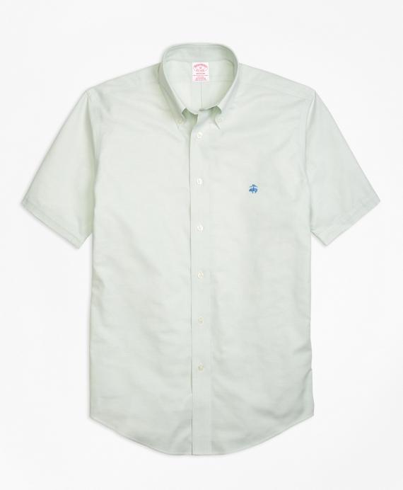 Non-Iron Madison Fit Short-Sleeve Oxford Sport Shirt Aqua