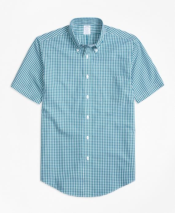 Non-Iron Regent Fit Short-Sleeve Gingham Sport Shirt