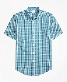 Non-Iron Regent Fit Short-Sleeve Gingham Sport Shirt
