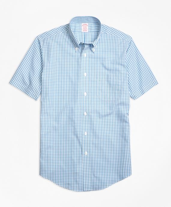 Non-Iron Madison Fit Short-Sleeve Gingham Sport Shirt