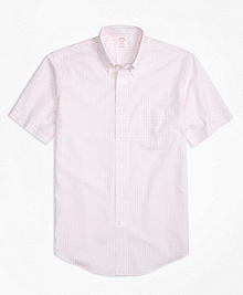 Non-Iron Madison Fit Short-Sleeve Gingham Sport Shirt