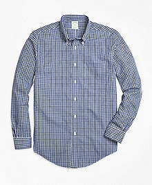 Non-Iron Milano Fit Gingham Sport Shirt