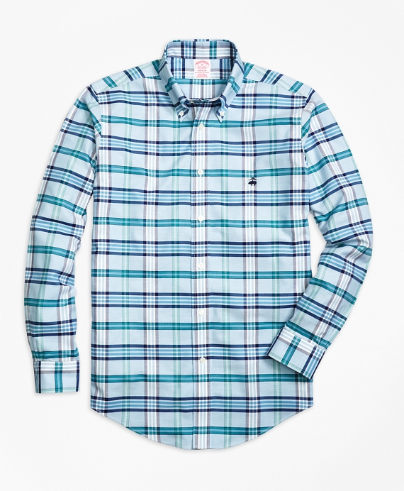 Non-Iron Madison Fit Tartan Sport Shirt
