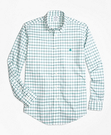 Non-Iron BrooksCool® Regent Fit Windowpane Sport Shirt