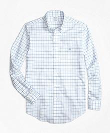 Non-Iron BrooksCool® Regent Fit Windowpane Sport Shirt