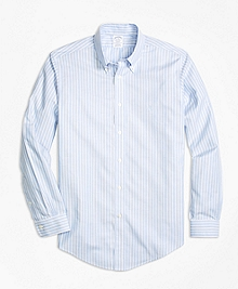 Non-Iron BrooksCool® Regent Fit Stripe Sport Shirt