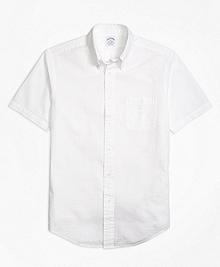 Regent Fit Seersucker Short-Sleeve Sport Shirt