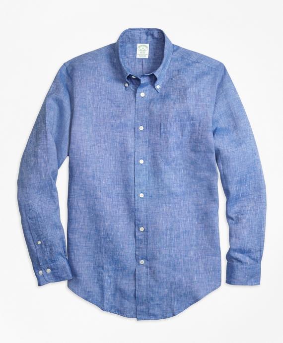 Milano Fit Irish Linen Sport Shirt Blue