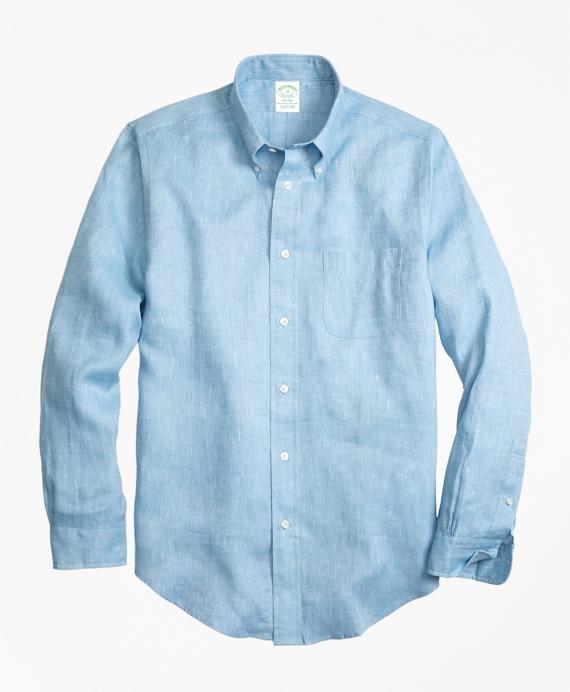 Milano fit irish linen sport shirt brooks brothers for Irish linen dress shirts