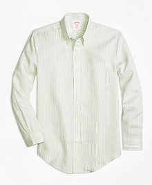 Madison Fit Stripe Irish Linen Sport Shirt
