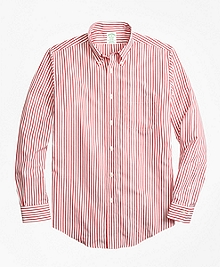 Non-Iron Milano Fit Border Stripe Sport Shirt