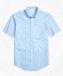 Non-Iron Madison Fit Micro Check Short-Sleeve Sport Shirt