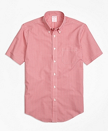 Non-Iron Madison Fit Micro Check Short-Sleeve Sport Shirt