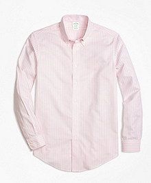 Non-Iron BrooksCool® Milano Fit Stripe Sport Shirt