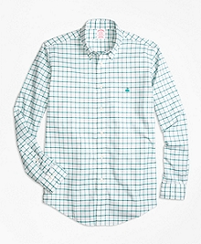 Non-Iron BrooksCool® Madison Fit Windowpane Sport Shirt