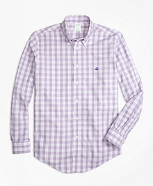 Non-Iron BrooksCool® Milano Fit Check Sport Shirt