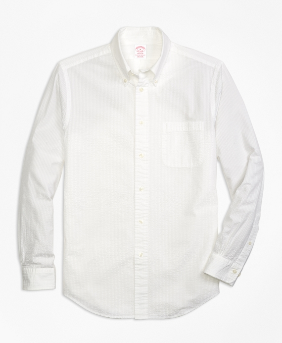 Madison Fit Seersucker Sport Shirt White