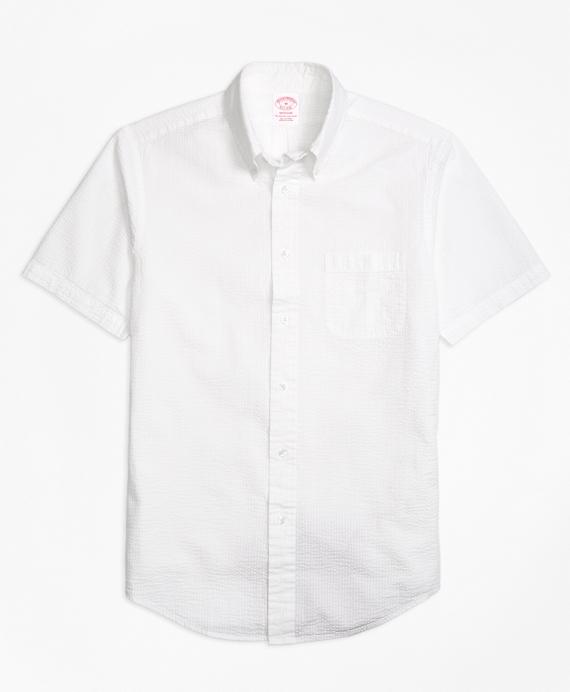Madison Fit Seersucker Short-Sleeve Sport Shirt