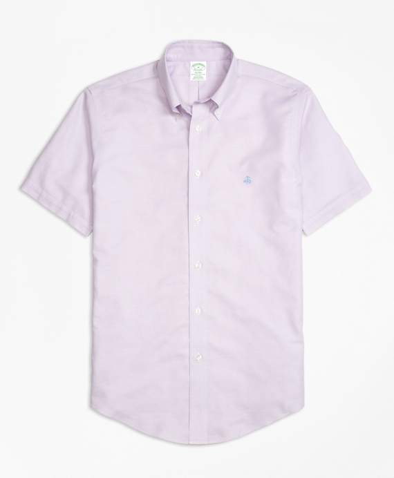 Non-Iron BrooksCool® Milano Fit Short-Sleeve Sport Shirt Lavender