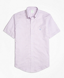 Non-Iron BrooksCool® Milano Fit Short-Sleeve Sport Shirt