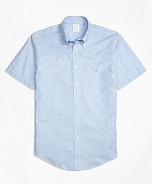 Non-Iron BrooksCool® Milano Fit Short-Sleeve Sport Shirt