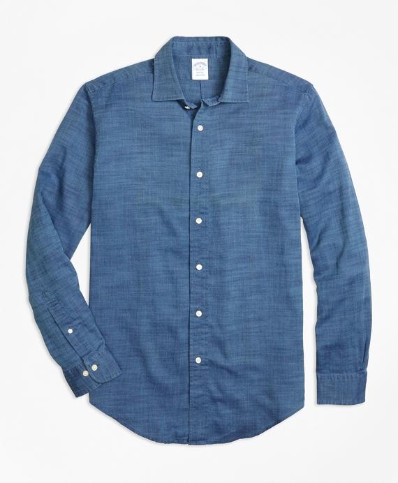 Regent Fit Indigo Royal Oxford Sport Shirt