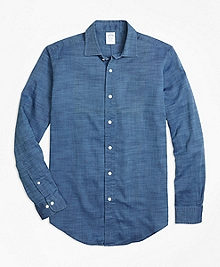 Regent Fit Indigo Royal Oxford Sport Shirt