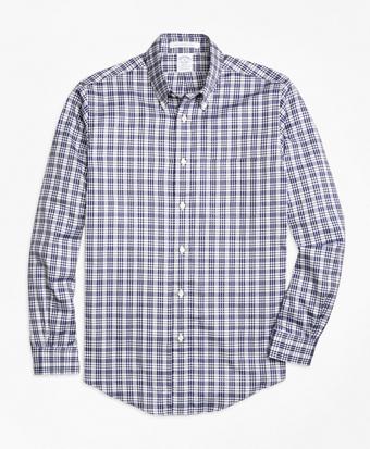 Regent Fit Plaid Sport Shirt