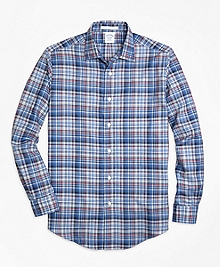 Regent Fit Plaid Melange Sport Shirt