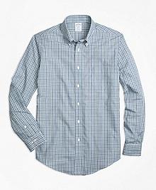 Non-Iron Regent Fit Green Check Sport Shirt