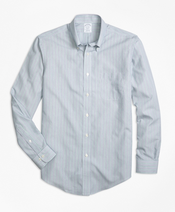 Non-Iron Regent Fit Mini Stripe Sport Shirt
