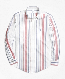 Non-Iron Regent Fit Awning Stripe Sport Shirt