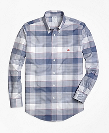 Non-Iron Regent Fit Glen Plaid Sport Shirt