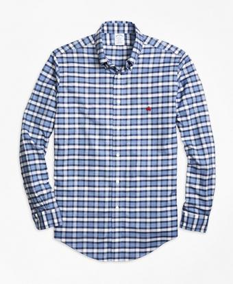 Non-Iron Regent Fit Heathered Check  Sport Shirt