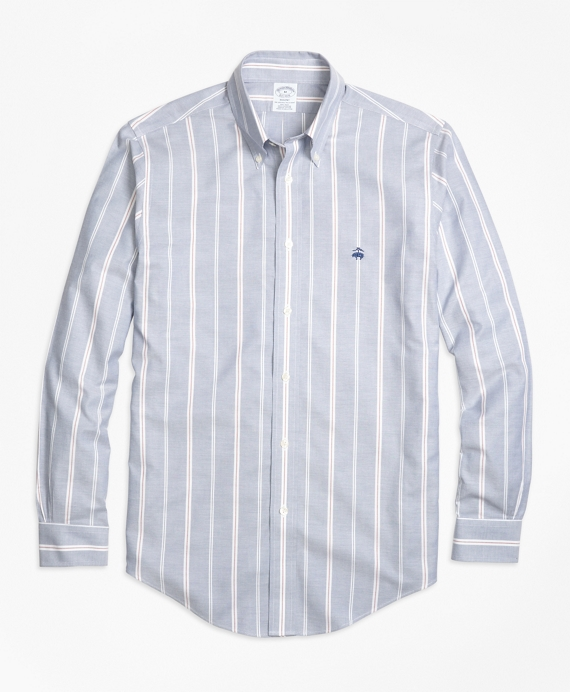 Non-Iron Regent Fit Wide Stripe Sport Shirt