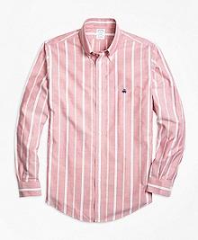 Non-Iron Regent Fit Wide Stripe Sport Shirt
