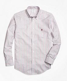 Non-Iron Regent Fit Vintage Stripe Sport Shirt