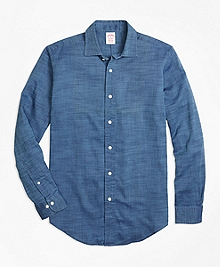Madison Fit Indigo Royal Oxford Sport Shirt