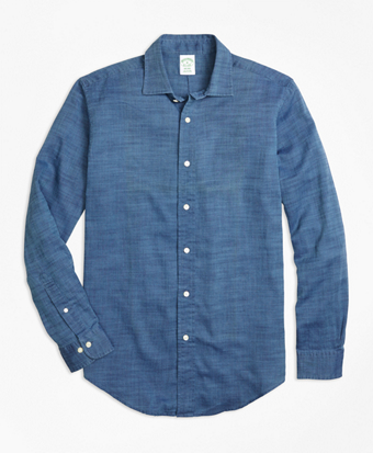 Milano Fit Indigo Royal Oxford Sport Shirt